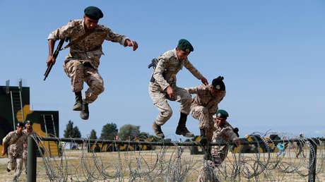 Marinos iraníes participan en los Juegos Militares Internacionales 2019 en la región de Kaliningrado, Rusia, el 5 de agosto de 2019.