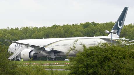 Un avión de la aerolínea Pakistan International Airlines.