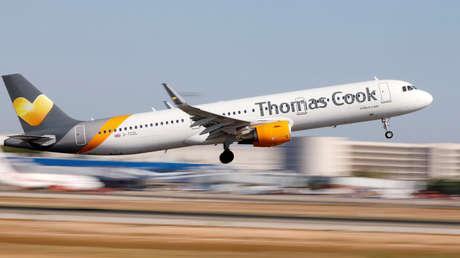 Un Airbus A321 de Thomas Cook despega desde Palma de Mallorca, España, el 28 de julio de 2018.