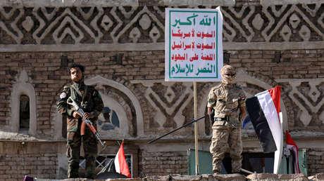 Integrantes armados del movimiento hutí en Saná, Yemen, el 21 de septiembre de 2019.
