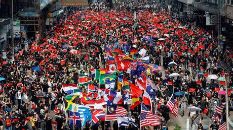 Protestas antigubernamentales en Hong Kong, China, el 29 de septiembre de 2019.