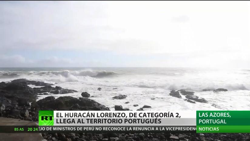 El huracán Lorenzo llega a Portugal