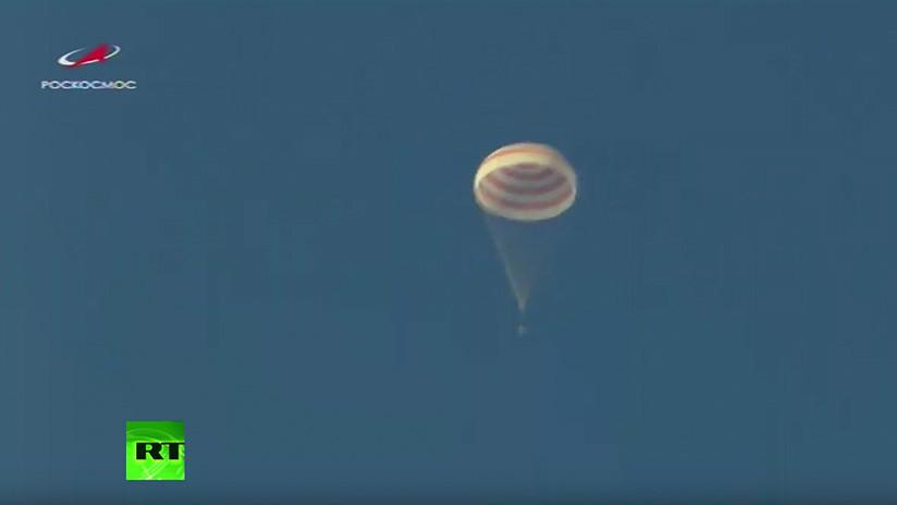 VIDEO: La nave espacial Soyuz MS-12 regresa a la Tierra