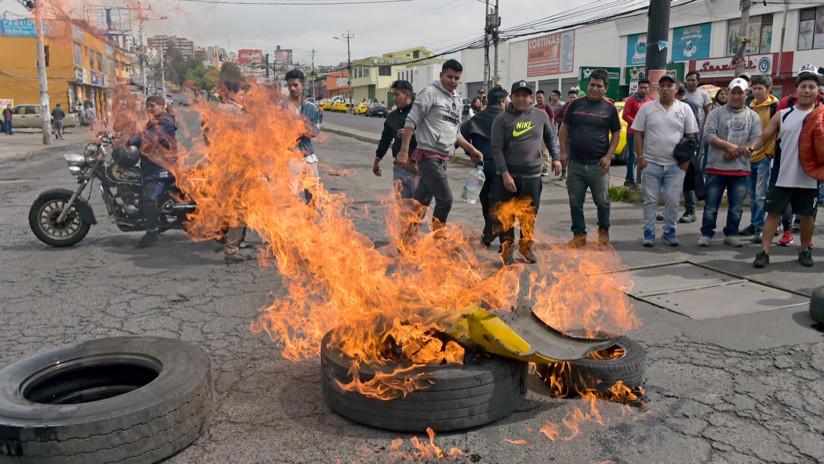 VIDEOS: Fuertes disturbios en Ecuador durante las manifestaciones contra el 'paquetazo' de Lenín Moreno