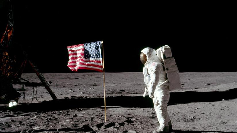 FOTO: El procesamiento digital de una icónica imagen revela la cara sonriente de Buzz Aldrin cuando estuvo en la Luna