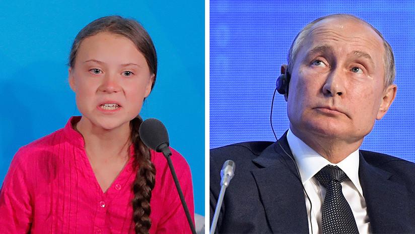 """""""Una niña buena pero mal informada"""": Greta Thunberg responde a Putin"""