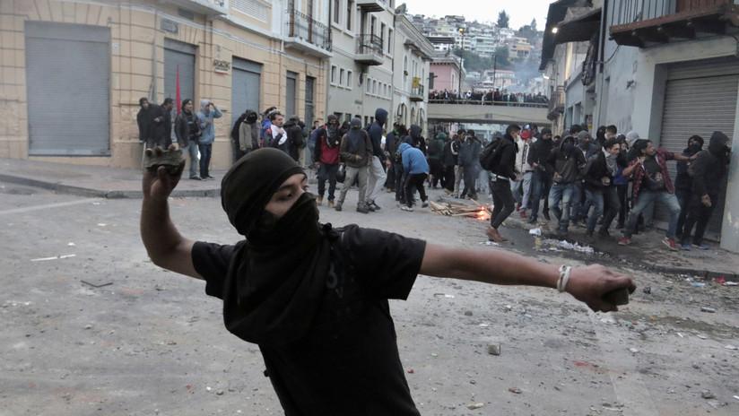 350 detenidos en las protestas contra el 'paquetazo' de Lenín Moreno en Ecuador