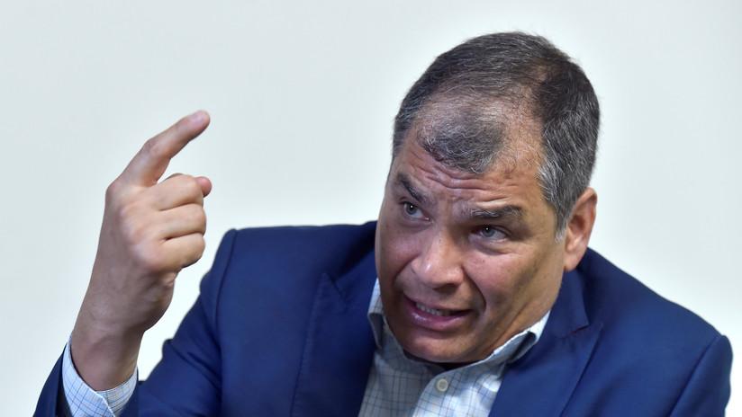 """Correa culpa a Moreno de la """"crisis moral"""" que vive Ecuador y llama a convocar a elecciones"""