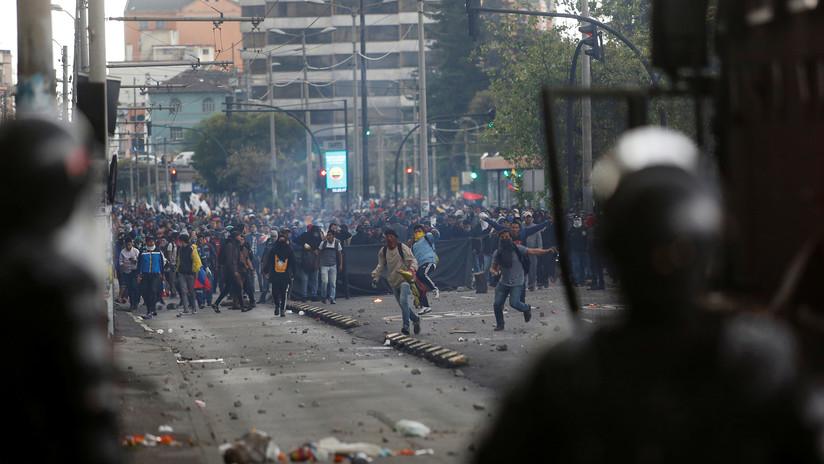 """Ecuatorianos se mantienen en las calles en protesta contra """"paquetazo"""" de Lenín Moreno"""