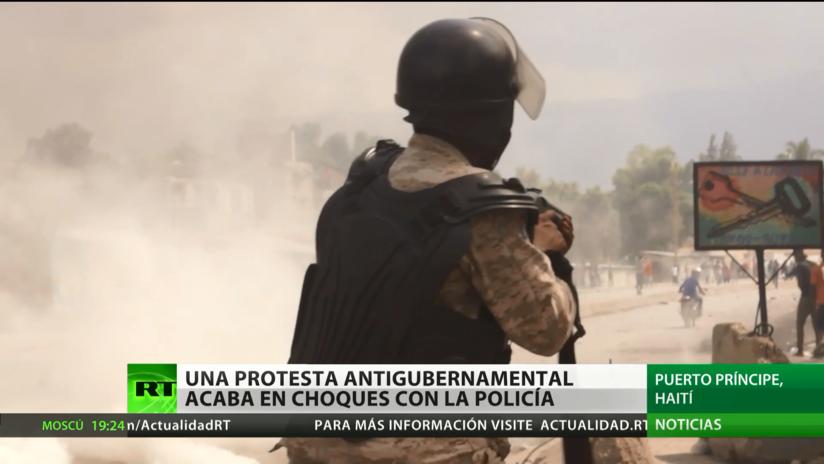 Haití: Una protesta antigubernamental acaba en enfrentamientos con la Policía