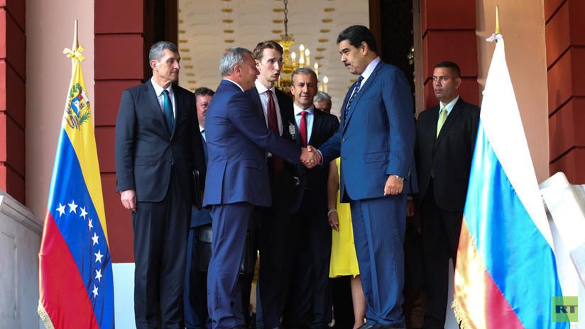 El vice primer ministro de Rusia se reúne con Nicolás Maduro en Caracas