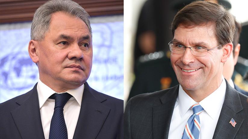 Dialogan titulares de Defensa de Rusia y EE.UU.
