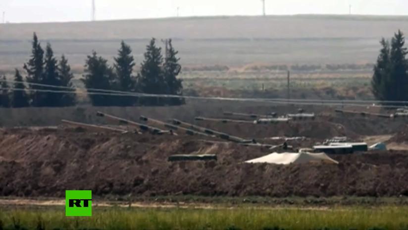 VIDEO: Turquía despliega maquinaria militar en la frontera con Siria