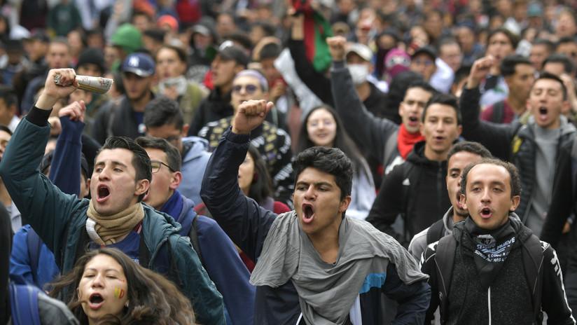 En defensa de la educación, contra la corrupción y la represión: los estudiantes universitarios colombianos vuelven a las calles