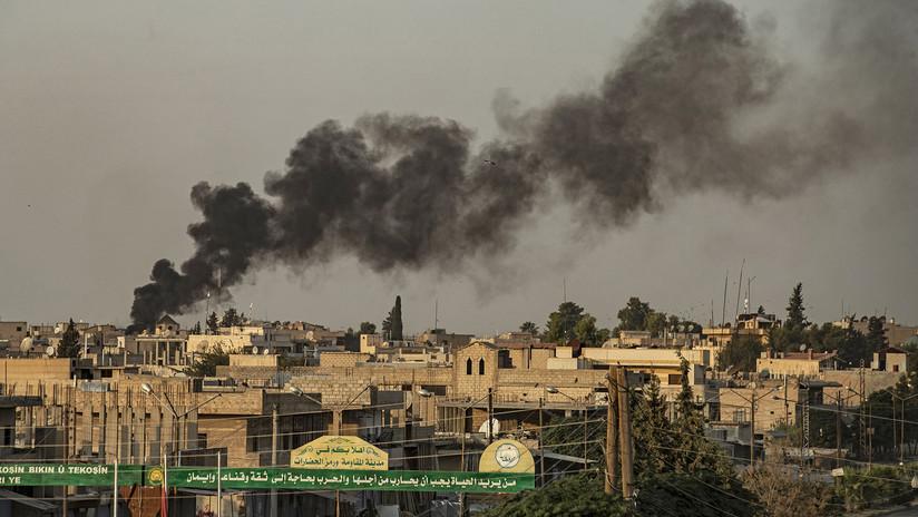 VIDEOS, FOTOS: Aparecen las imágenes del primer bombardeo que Turquía realizó en el marco de la operación militar en Siria