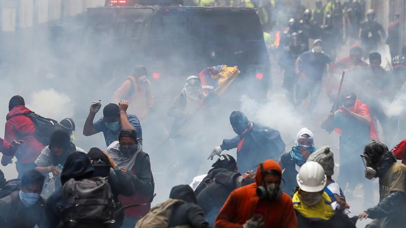 VIDEO: Fuertes disturbios en Ecuador en la jornada de protesta contra el 'paquetazo' de Lenín Moreno
