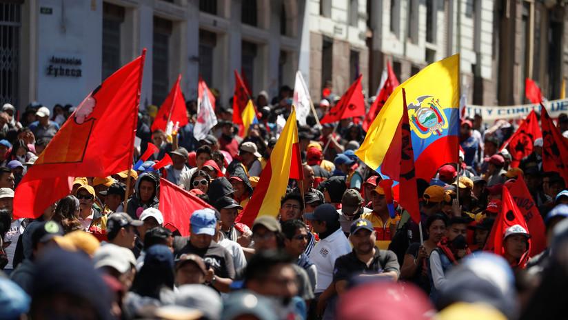 """""""Mañana desayunamos con ellos"""": dirigente indígena anuncia que las protestas en Ecuador continuarán este jueves"""