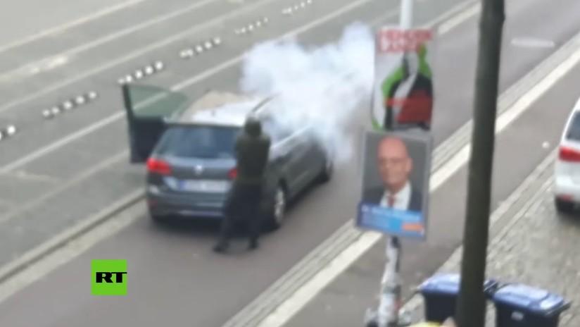 VIDEO, FOTOS: Primeras imágenes muestran al supuesto tirador de Halle durante su ataque