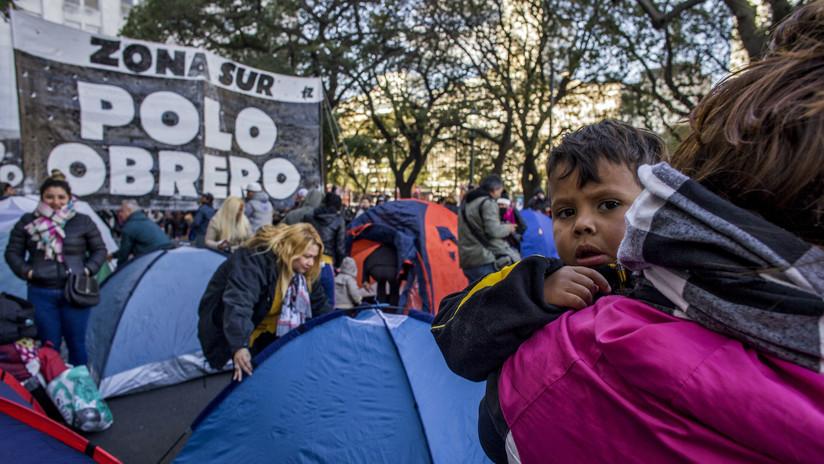 """Organizaciones sociales de Argentina vuelven a marchar en Buenos Aires """"contra el hambre y la pobreza"""""""