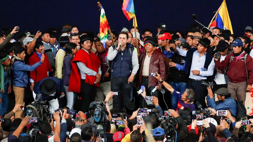 El movimiento indígena pide a las Fuerzas Armadas que retiren su apoyo a Lenín Moreno