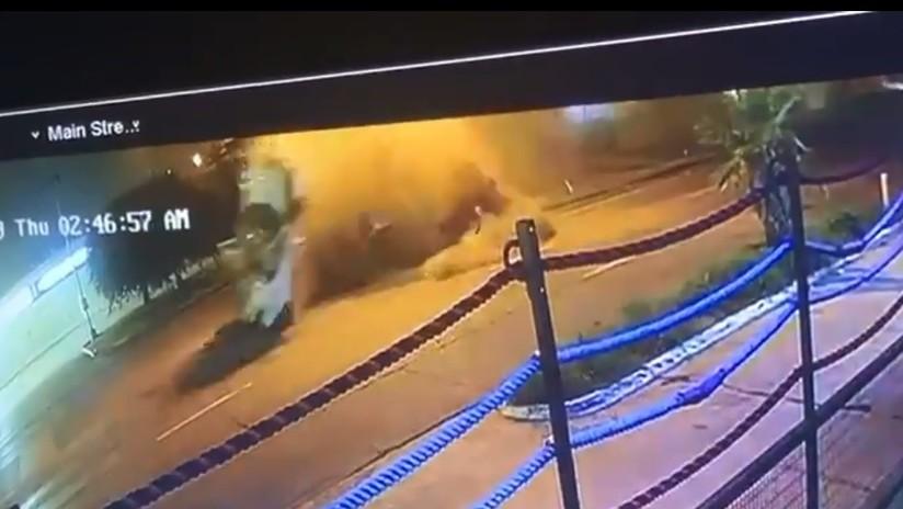 VIDEOS: El aparatoso accidente del campeón mundial de boxeo que salió despedido de su Ferrari
