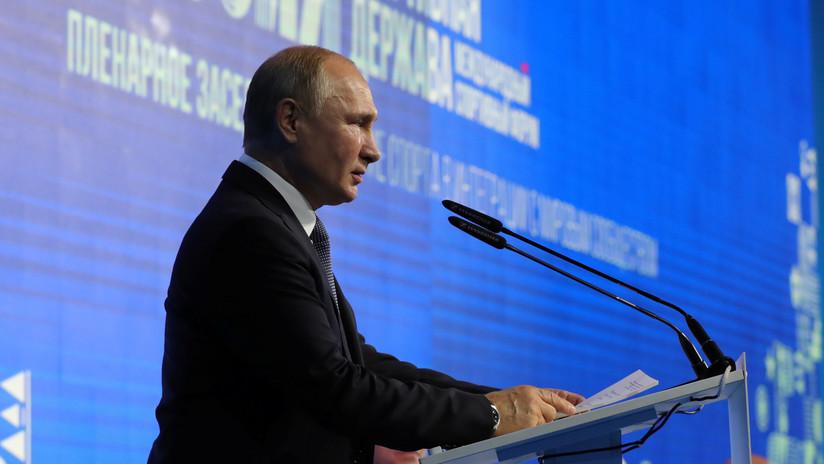 """Putin: """"Tendremos que desarrollar misiles de alcance medio, porque EE.UU. ya los tiene"""""""