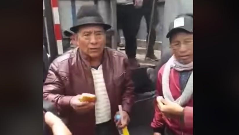 """""""No nos culparán a los indígenas por la delincuencia en Quito"""": la lección de un hombre mayor sobre la huelga general (VIDEO)"""