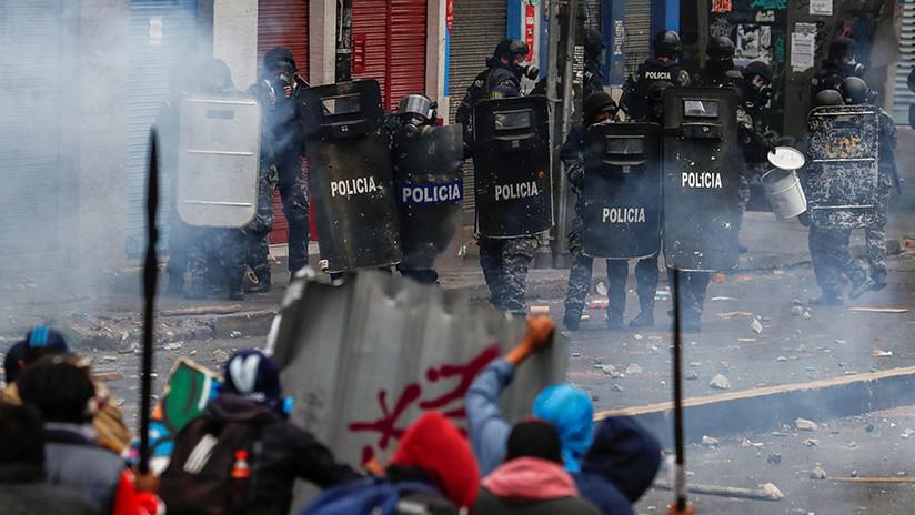 VIDEO: Disturbios en la nueva jornada de protestas contra el Gobierno de Ecuador