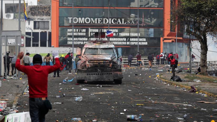 Defensoría del Pueblo de Ecuador exige el cese la represión cerca de hospitales y universidades