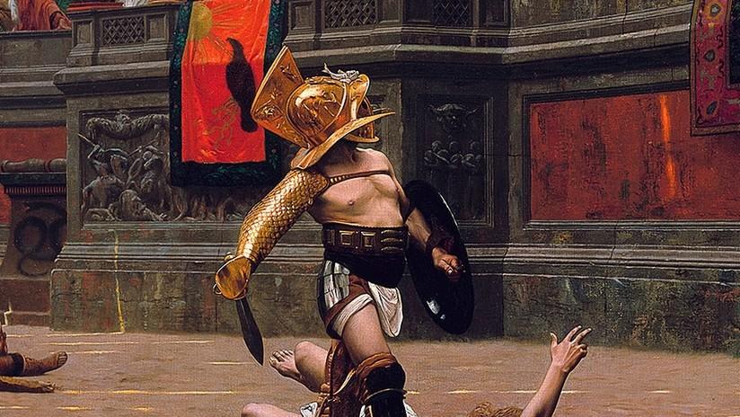 """FOTO: Hallan en una antigua taberna de Pompeya un fresco """"extremadamente realista"""" de gladiadores"""