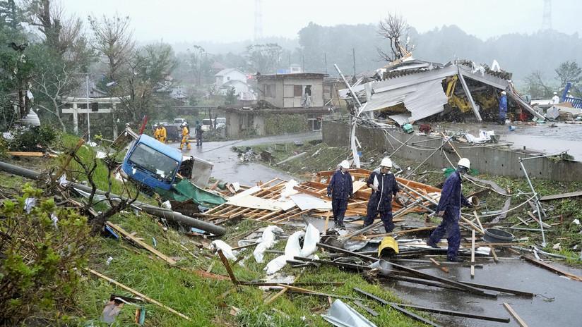 FOTOS, VIDEO: El potente tifón Hagibis causa las primeras destrucciones en Japón