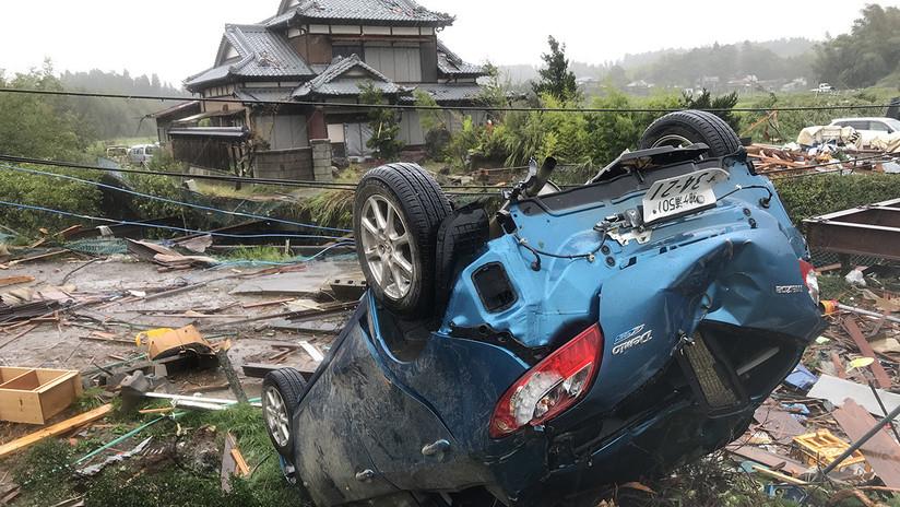 Destrucciones en Japón por el paso del potente tifón Hagibis