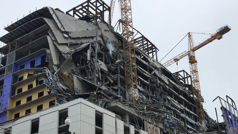 FOTOS, VIDEO: Momento del colapso de un hotel en EE.UU. que dejó al menos un muerto y varios heridos