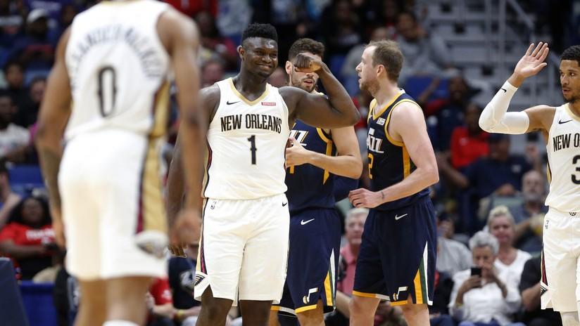 26 puntos en 23 minutos: Zion Williamson, el novato de la NBA que sorprende con sus jugadas (VIDEO)