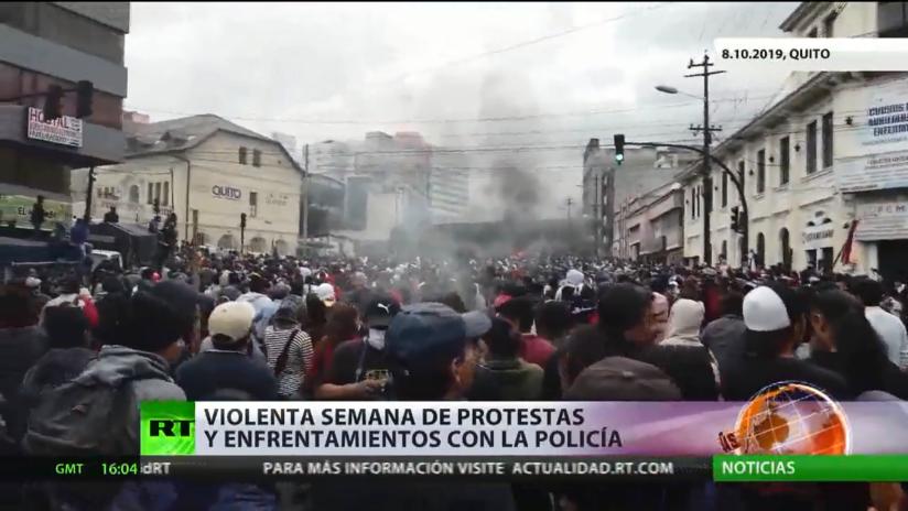 Violenta semana de protestas y enfrentamientos con la Policía  en Ecuador por el 'paquetazo'