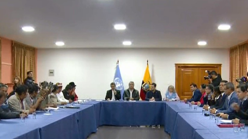 Diálogo en Ecuador: Moreno propone un nuevo decreto y el movimiento indígena insiste en derogar el 883 (VIDEO)