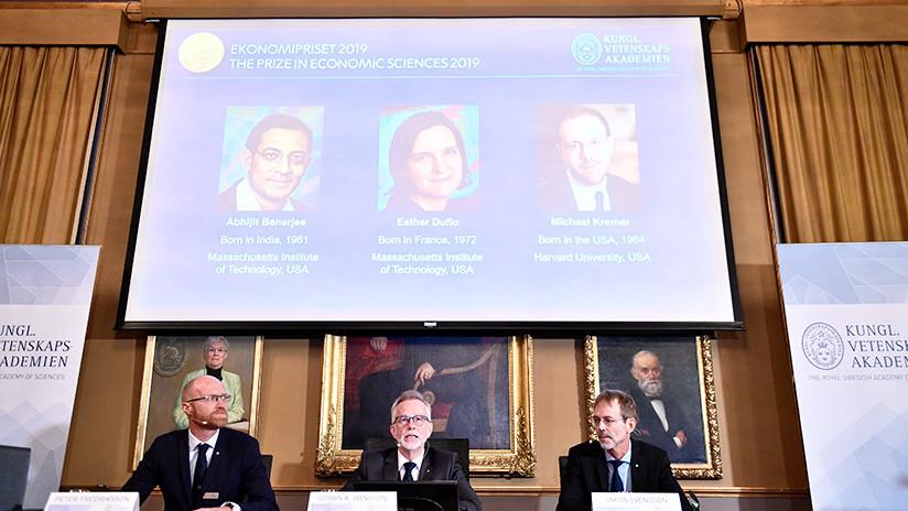 Nobel de Economía a investigadores de la reducción de pobreza global