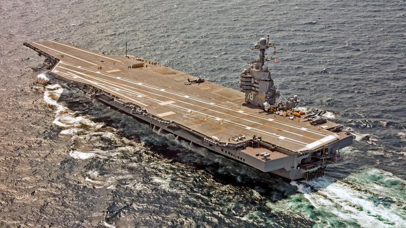 El portaviones USS Gerald R. Ford, entregado hace dos años, aún atraviesa fallos críticos