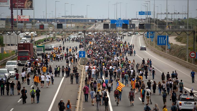 Manifestaciones y cortes de vías: nueva jornada de protestas en Cataluña por la sentencia del 'procés'