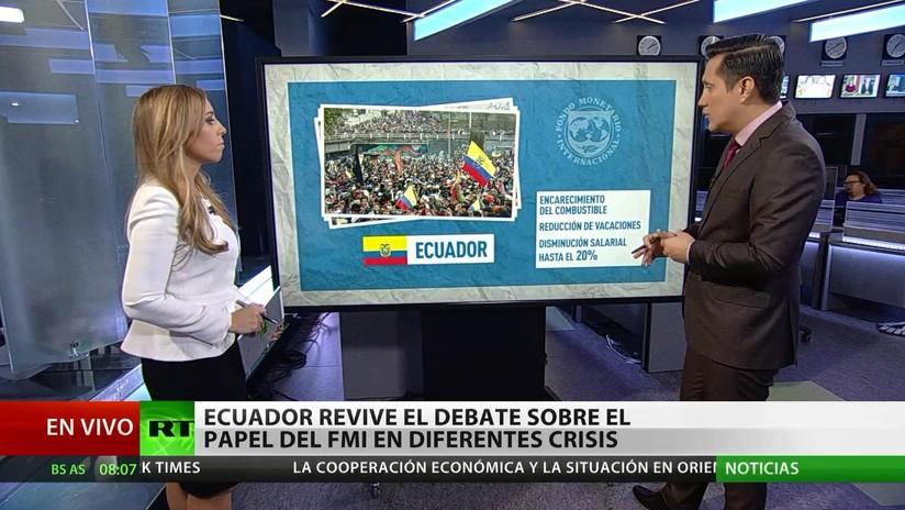 Ecuador revive el debate sobre el papel del FMI en diferentes crisis