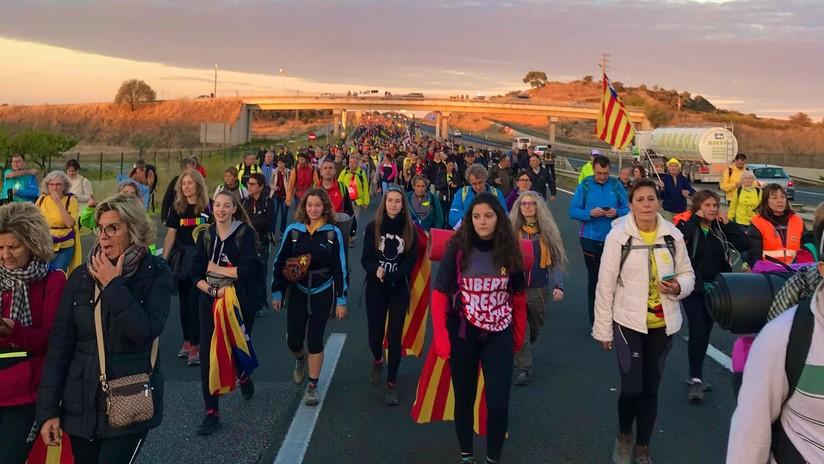 El independentismo catalán convoca cinco marchas a pie para protestar contra la sentencia del 'procés'