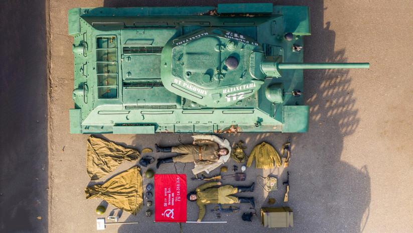 Un museo histórico de Moscú se une al #TetrisChallenge con un carro de combate, tanquistas y equipos