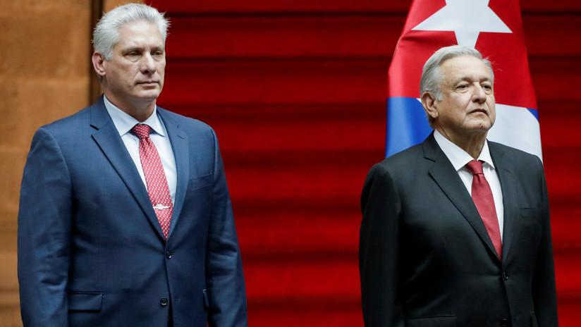 """López Obrador se reúne con Díaz-Canel para fortalecer la """"relación histórica"""" entre México y Cuba"""