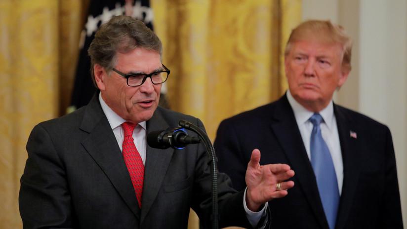 El secretario de Energía de EE.UU., Rick Perry, abandona el gabinete de Trump
