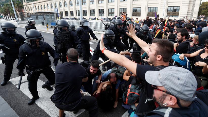 Piden la dimisión del Consejero de Interior de Cataluña por la actuación policial durante las protestas