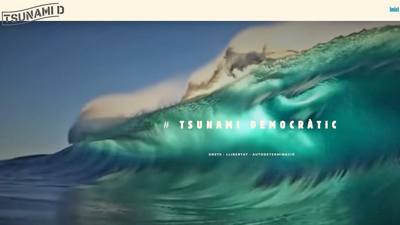 Cierran la web de 'Tsunami Democràtic' tras cinco días de protestas en Barcelona