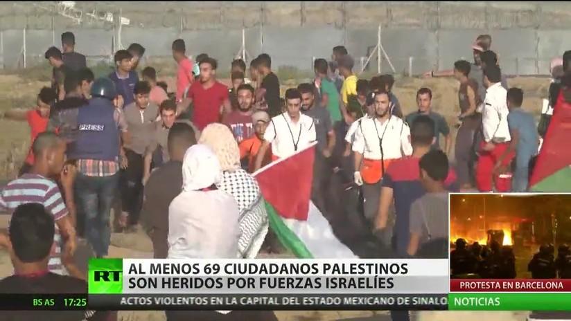Fuerzas israelíes hieren al menos a 69 palestinos en la Marcha del Retorno