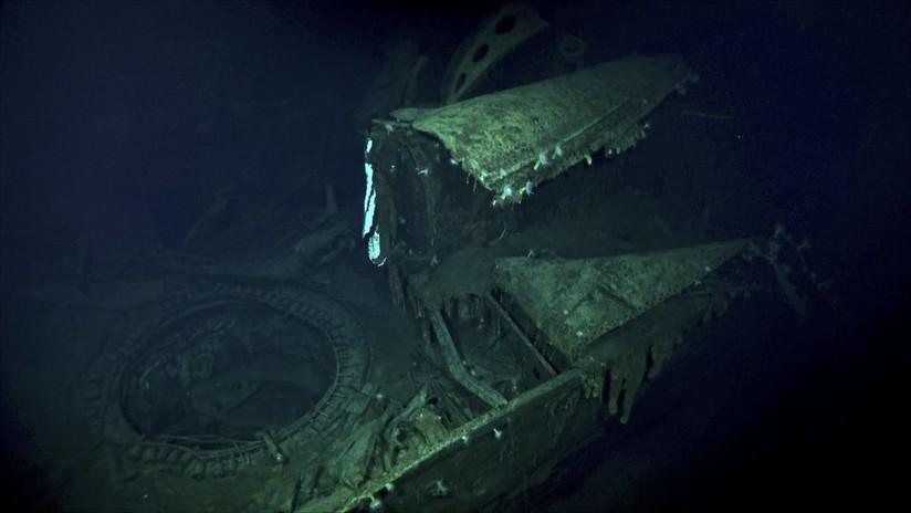 Encuentran un portaviones japonés hundido durante la Segunda Guerra Mundial en el océano Pacífico (VIDEO)