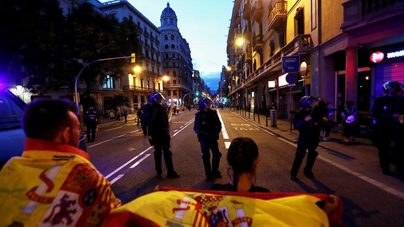 VIDEO: Sexto día consecutivo de protestas en Cataluña