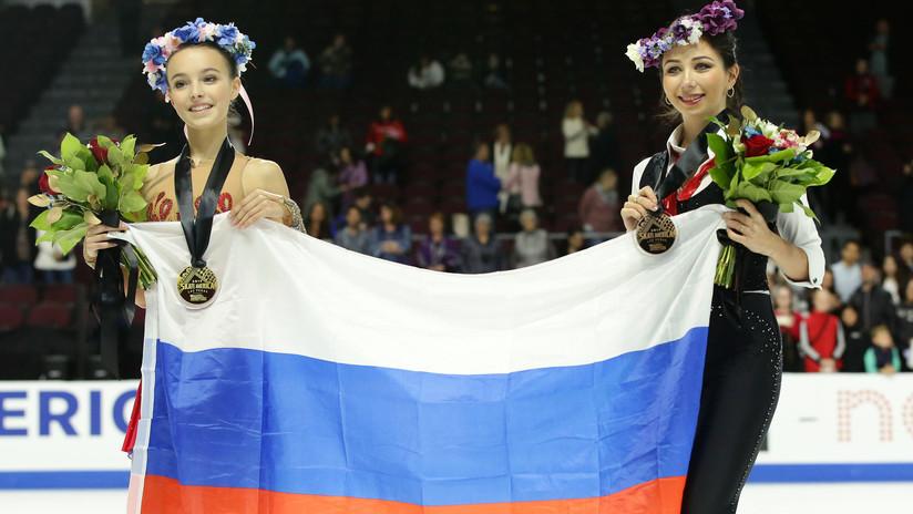 Una patinadora rusa de 15 años gana el Skate America en Las Vegas con dos saltos cuádruples
